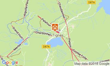 Map Tignes Apartment 115668