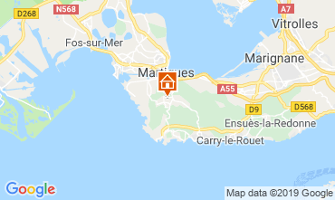 Map Martigues Vacation rental 61577