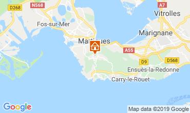 Map Martigues Vacation rental 61577