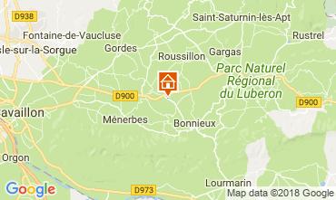 Map Bonnieux Vacation rental 114578