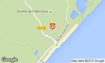 Map Saint Pierre la Mer Apartment 77007