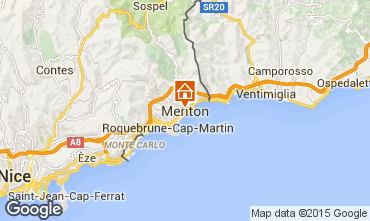 Map Menton One-room apartment 59821