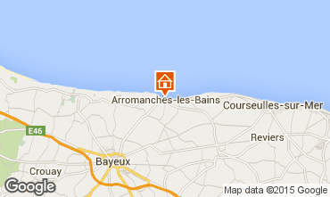 Map Arromanches One-room apartment 93668