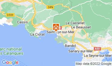 Map Saint Cyr sur Mer Apartment 97574