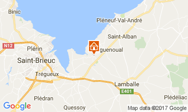 Map Pleneuf Val André Vacation rental 108975