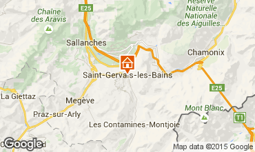 Map Saint Gervais Mont-Blanc One-room apartment 2586