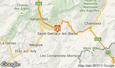 Map Saint Gervais Mont-Blanc One-room apartment 2586