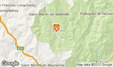 Map Les Menuires One-room apartment 1708