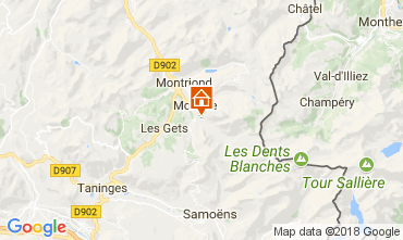 Map Morzine One-room apartment 112892