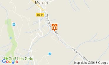Map Morzine One-room apartment 112892