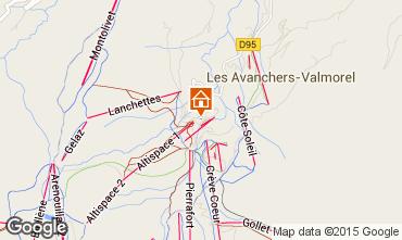 Map Valmorel Apartment 39111