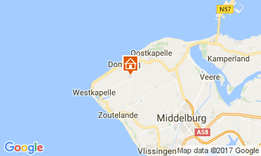 Map Domburg Vacation rental 108693