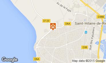 Map Saint Hilaire de Riez Apartment 10083