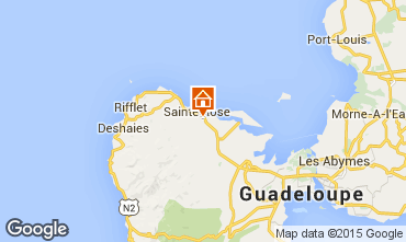 Map Sainte Rose Vacation rental 29670