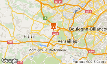 Map Versailles Vacation rental 15412