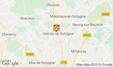 Map Chambord Vacation rental 119080