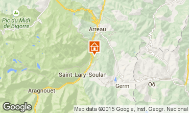 Map Saint Lary Soulan Apartment 4408