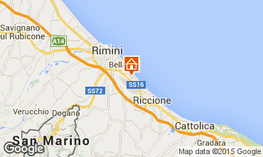 Map Rimini Apartment 21770