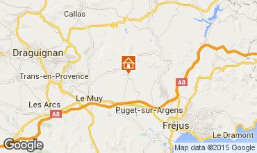 Map Roquebrune sur Argens Villa 95485