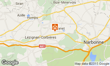 Map Carcassonne Vacation rental 38926