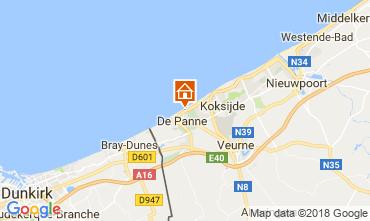 Map De Panne Apartment 115178