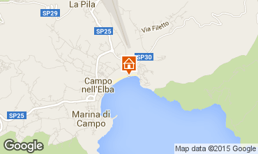 Map Campo nell'Elba Apartment 95820