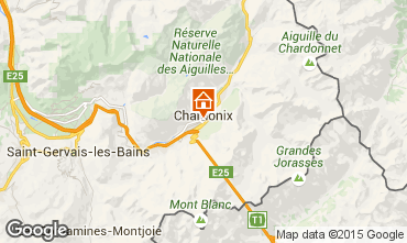 Map Chamonix Mont-Blanc One-room apartment 67211