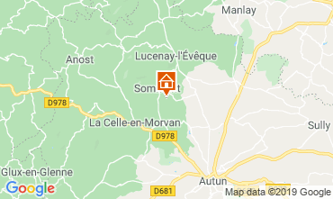 Map Autun Vacation rental 112324