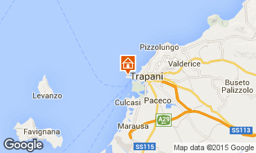 Map Trapani Apartment 93394