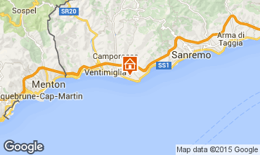 Map Bordighera Apartment 100678
