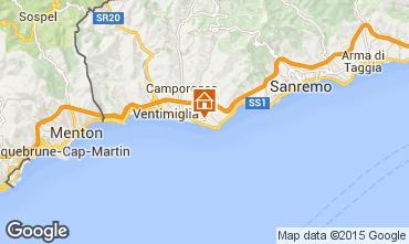 Map Bordighera Apartment 100678