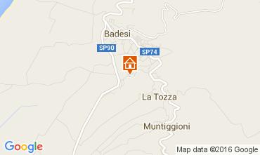Map Badesi Apartment 80778