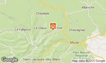 Map Le Lioran Vacation rental 58333