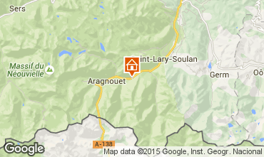 Map Saint Lary Soulan Vacation rental 67181