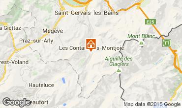 Map Les Contamines Montjoie One-room apartment 946