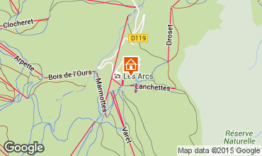 Map Les Arcs Apartment 124