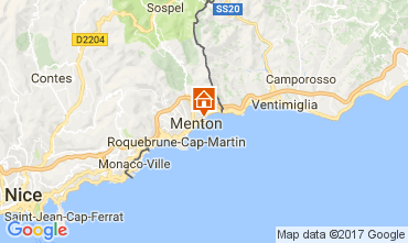 Map Menton Apartment 61049