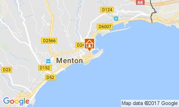 Map Menton Apartment 61049