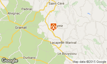 Map Rocamadour Vacation rental 15792