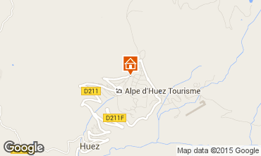 Map Alpe d'Huez Apartment 74134