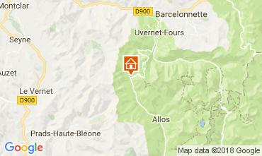 Map La Foux d'Allos Apartment 113414