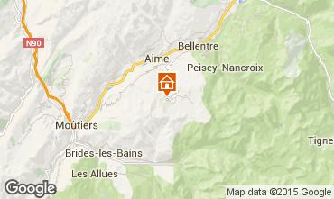 Map La Plagne Apartment 80286