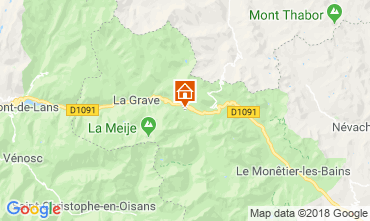 Map La Grave - La Meije Chalet 51065