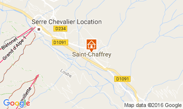 Map Serre Chevalier One-room apartment 91234