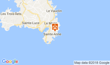 Map Sainte Anne (Martinique) Villa 88363