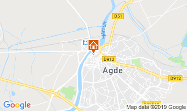 Map Agde Apartment 118302