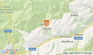 Map Peio (Pejo) Apartment 105628