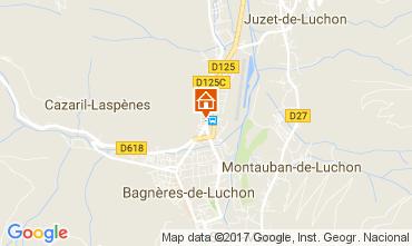 Map Bagnères-de-Luchon Apartment 81454