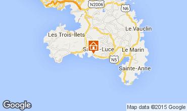 Map Sainte Luce Villa 97986