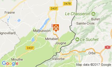 Map Métabief Apartment 3729